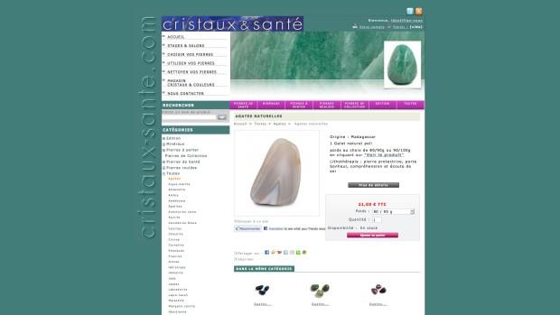 site internet CRISTAUX et SANTE