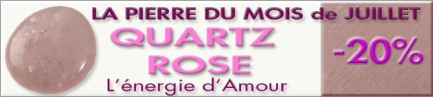 Pierre du mois de Juillet : le QUARTZ ROSE sur www.cristaux-sante.com