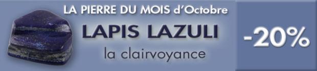 PIERRE DU MOIS D'OCTOBRE : LAPIS LAZULI, photo Serge BRIEZ®cristaux-sante.com