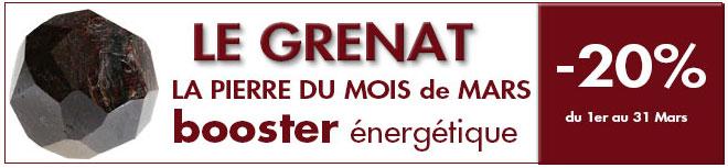 La Pierre du mois de Mars : Le GRENAT, www.cristaux-sante.com