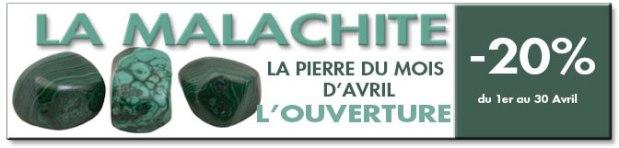 La pierre du mois d'avril : La Malachite ®Photo Serge BRIEZ Capmédiations - cristaux-sante.com
