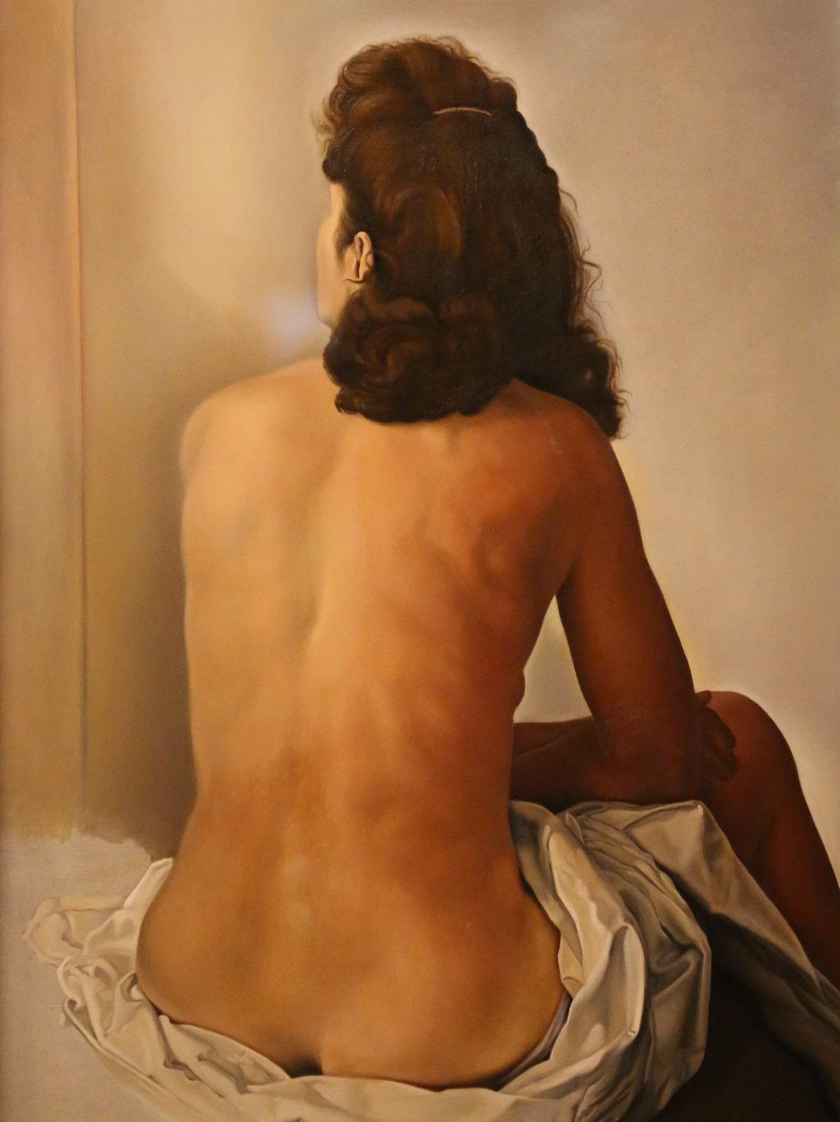 Gala de dos, regardant un miroir invisible, par Salvadore Dali, huile sur toile 1960, Musée Théâtre Dali de Figueres, photo Serge Briez®