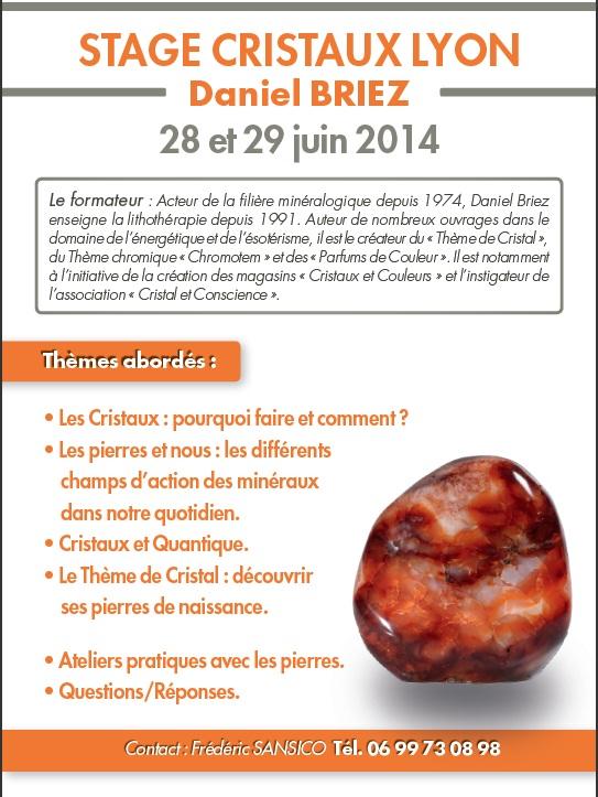 Flyer du stage de Lyon, Juin 2014