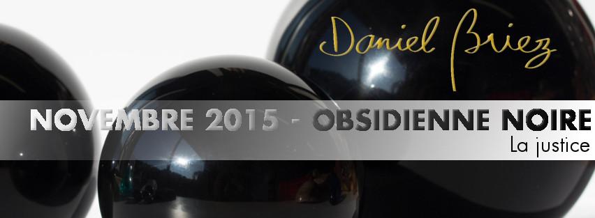 LA PIERRE DU MOIS DE NOVEMBRE 2015 - L'OBSIDIENNE NOIRE