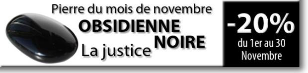 Retrouvez la pierre du mois de Novembre : l'Obsidienne Noire sur www.cristaux-sante.com
