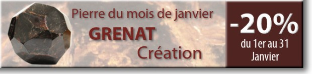 Retrouvez la pierre du mois de Janvier : le Grenat sur www.cristaux-sante.com