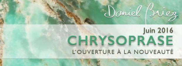 LA PIERRE DU MOIS DE JUIN 2016 - LA CHRYSOPRASE