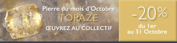 Retrouvez la pierre du mois d'octobre 2016 : la Topaze sur www.cristaux-sante.com