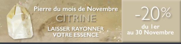 Retrouvez la pierre du mois de Novembre 2016 : la Citrine sur www.cristaux-sante.com