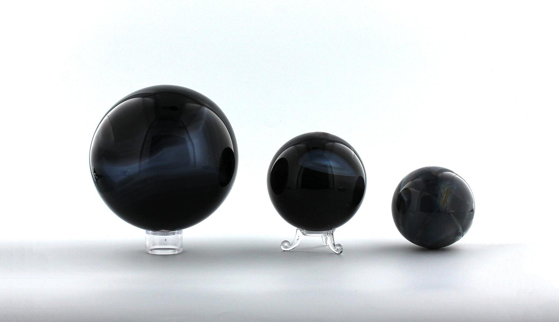 Boules d'Agate Bleue, photo ®Cristaux et Santé, 2017