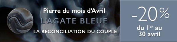 Retrouvez la pierre du mois d'Avril 2017 : l'Agate Bleue sur www.cristaux-sante.com