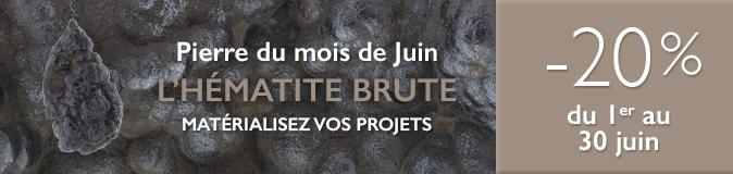 Retrouvez la pierre du mois de Juin 2017 : l'Hématite Brute sur www.cristaux-sante.com
