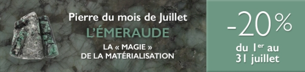 Retrouvez la pierre du mois de Juillet 2017 : l'Émeraude sur www.cristaux-sante.com