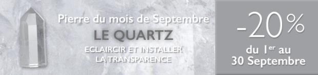 Retrouvez la pierre du mois de Septembre 2017 : le Quartz sur www.cristaux-sante.com