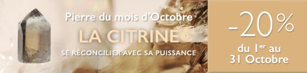 Retrouvez la pierre du mois d'Octobre 2017 : la Citrine sur https://www.cristaux-bien-etre.com
