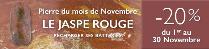 Retrouvez la pierre du mois de Novembre 2017 : le Jaspe Rouge sur https://www.cristaux-bien-etre.com
