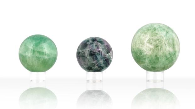 Boules de Fluorine, photo ®Cristaux et Bien-Être, 2018