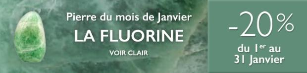 Retrouvez la pierre du mois de Janvier 2018 : la Fluorine sur https://www.cristaux-bien-etre.com