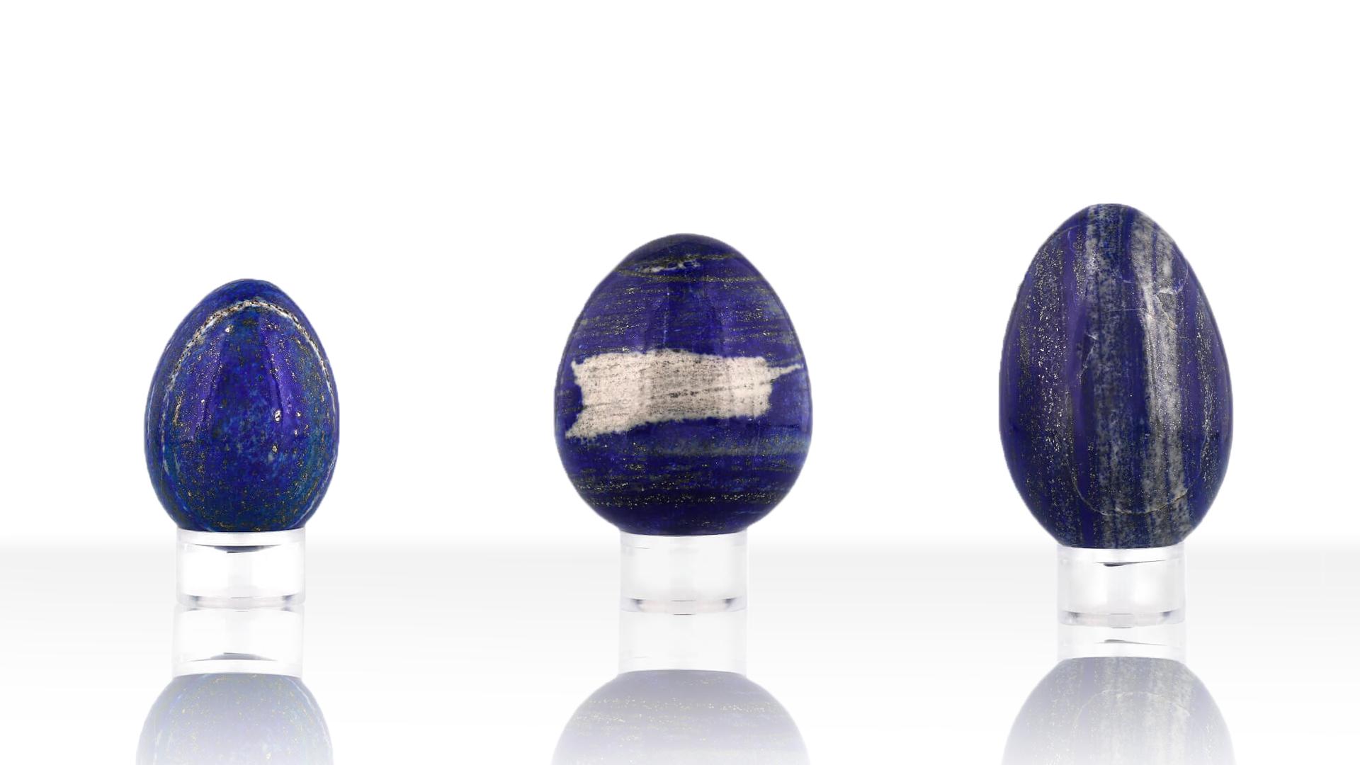 Oeufs de Lapis-lazuli, photo ®Cristaux et Bien-Être, 2018