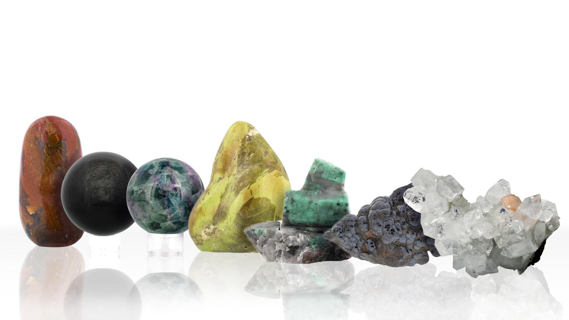 Différentes pierres de bien-être, photo ®Cristaux et Bien-Être, 2018