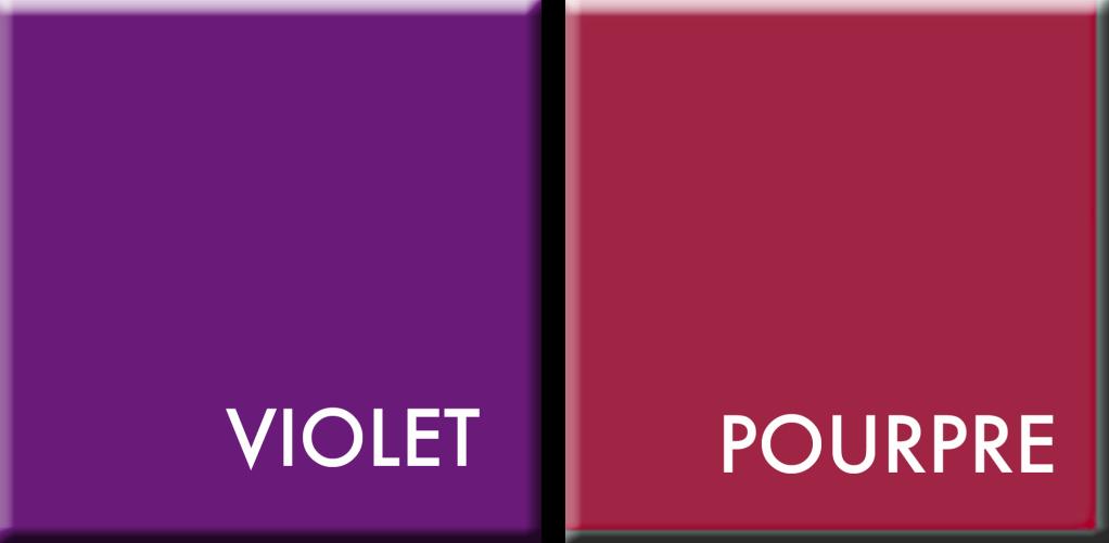 couleurs du jour : violet-pourpre du 31 mars au 5 avril