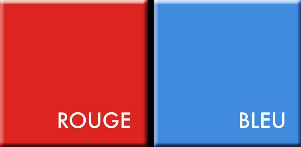 COULEURS DU JOUR POUR LA PERIODE DU 15 AU 20 AVRIL / ROUGE-BLEU