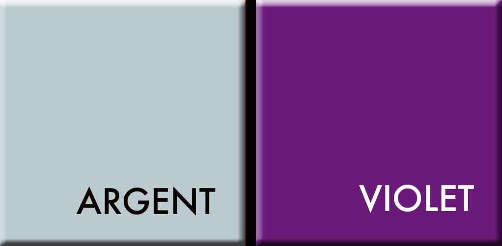 ARGENT-VIOLET, couleurs du jour du 21 au 25 avril