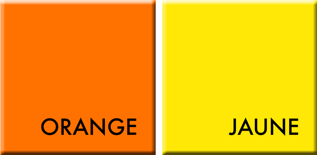 Orange-Jaune, couleurs du hour du 26 au 30 avril