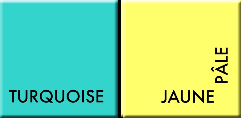 Turquoise-Jaune pâle, couleurs du jour du 1er au 5 mai