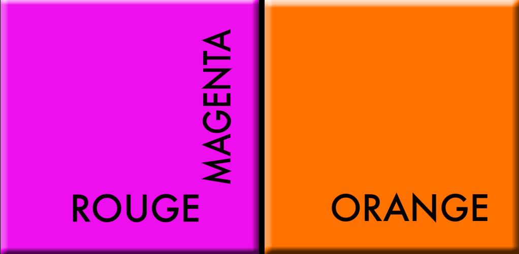 rouge magenta-orange, couleurs du jour du 21 au 26 mai