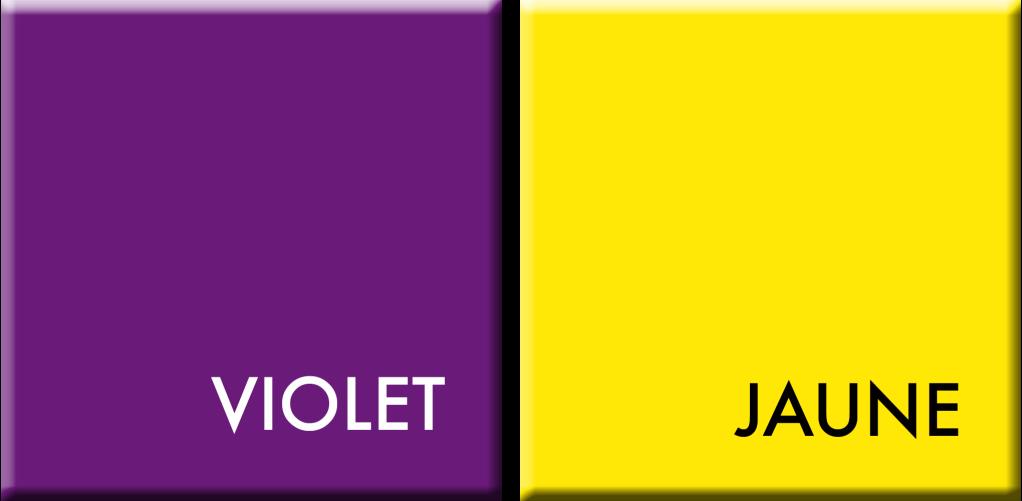 VIOLET-JAUNE, couleurs du jour du 27 au 31 mai