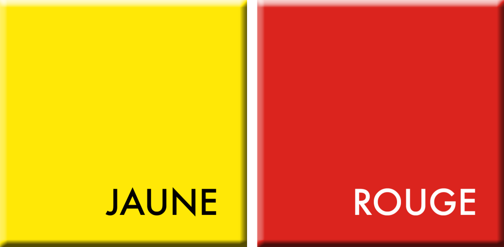 JAUNE-ROUGE, couleurs du jour du 1er au 6 juin