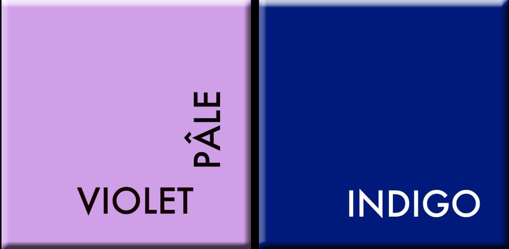 violet pâle-Indigo, couleurs du jour du 6 au 11 juin