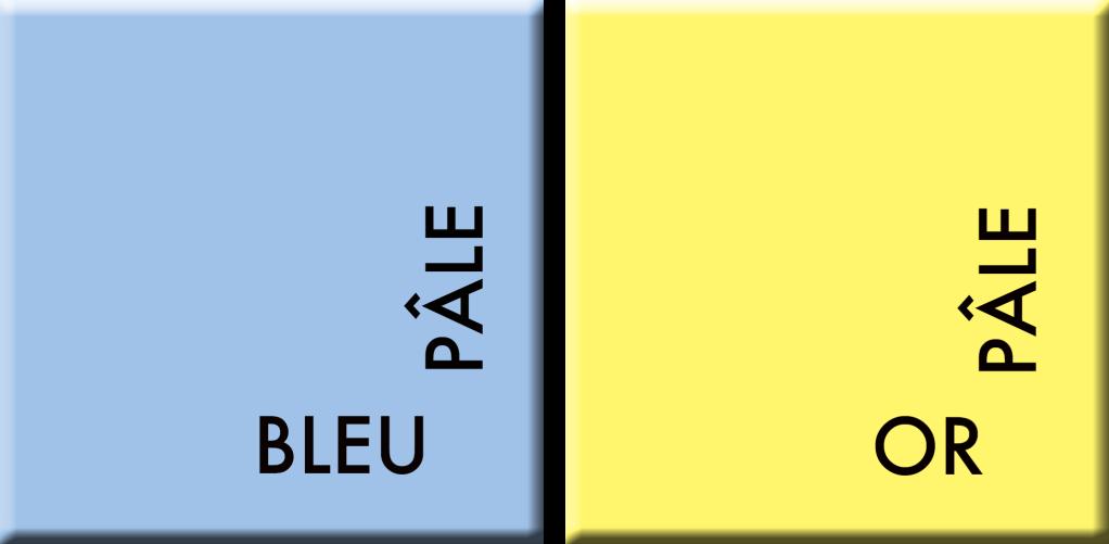 BLEU PÂLE-OR PÂLE, couleurs du jour du 2 au 7 juillet