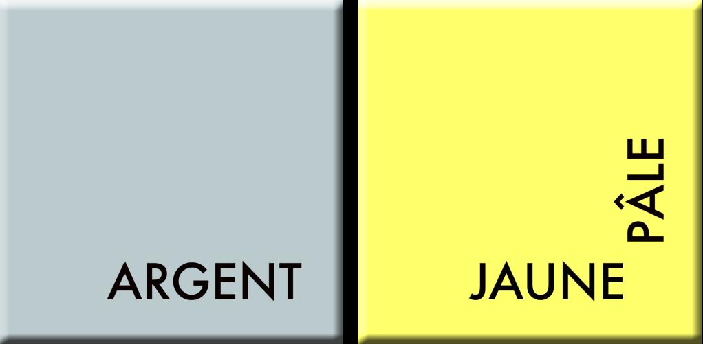 ARGENT-JAUNE PÂLE, COULEURS DU JOUR DU 8 AU 12 JUILLET