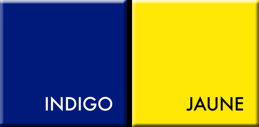 INDIGO-JAUNE,COULEURS DU JOUR DU 18 AU 23 JUILLET