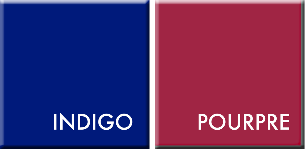 INDIGO-POURPRE,COULEURS DU JOUR SU 9 AU 13 SEPTEMBRE
