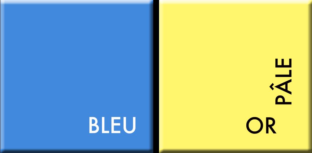 BLEU-OR PÂLE , COULEURS DU JOUR DU 9 AU 13 OCTOBRE