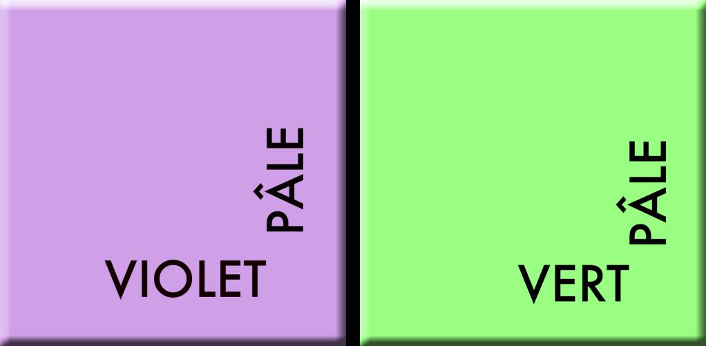 Violet pâle-Vert pâle, couleurs du jour du 23 octobre à midi au 29 octobre à midi